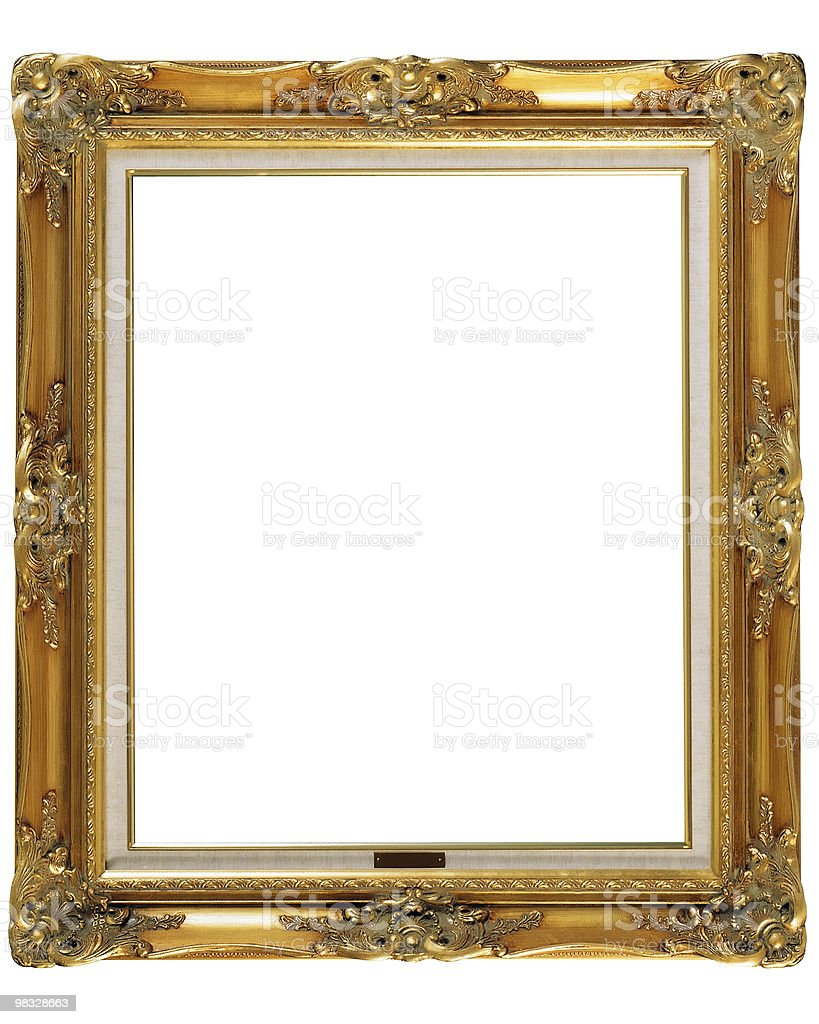 Retro Revival Old Gold Photo Frame royalty-free stock photo