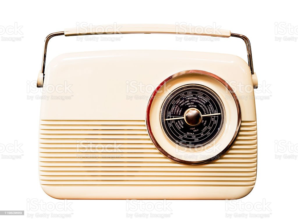 Retro revival radio isolated on white background royalty-free stock photo