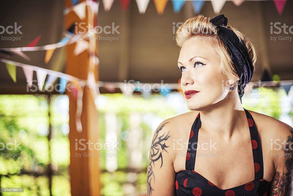 Retro Rockabilly Woman stock photo