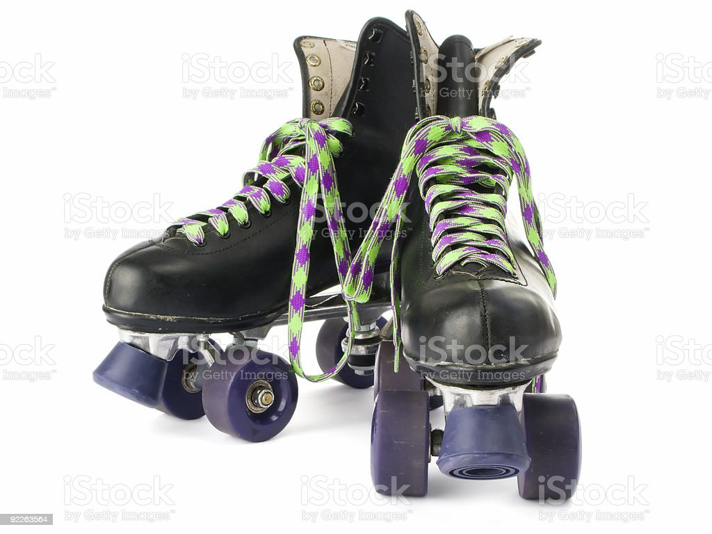 Retro roller skates royalty-free stock photo