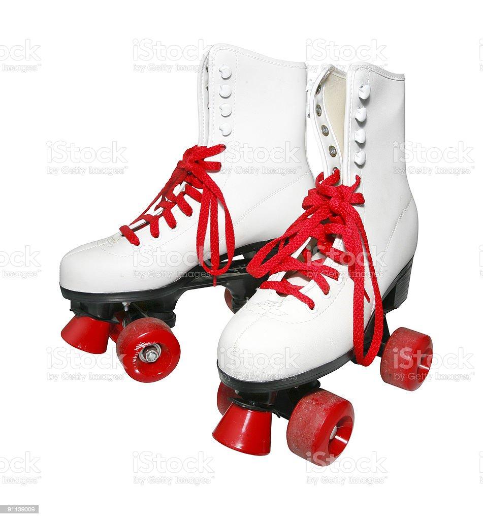 Retro rollerskates stock photo