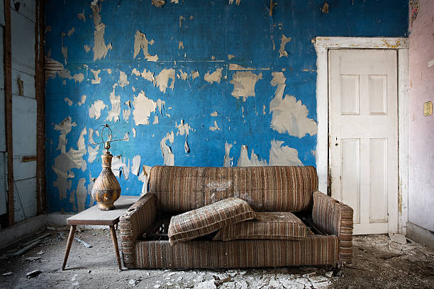 Retro Room.  derelict stock pictures, royalty-free photos & images