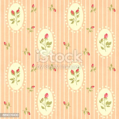 istock Retro seamless pattern in shabby chic style 889026400