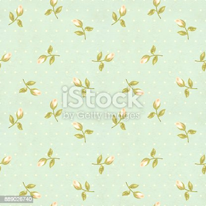 istock Retro seamless pattern in shabby chic style 889026740