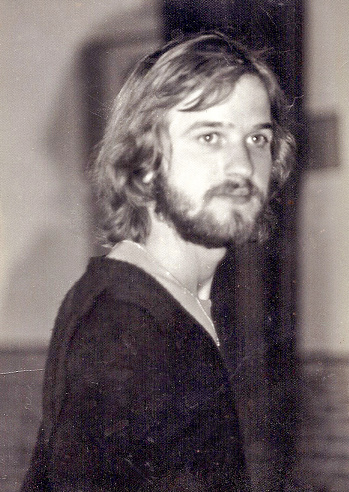 Young man in the seventies