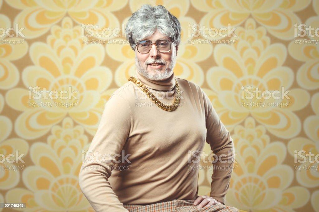 Retro 70er Jahre Stil Verkäufer – Foto