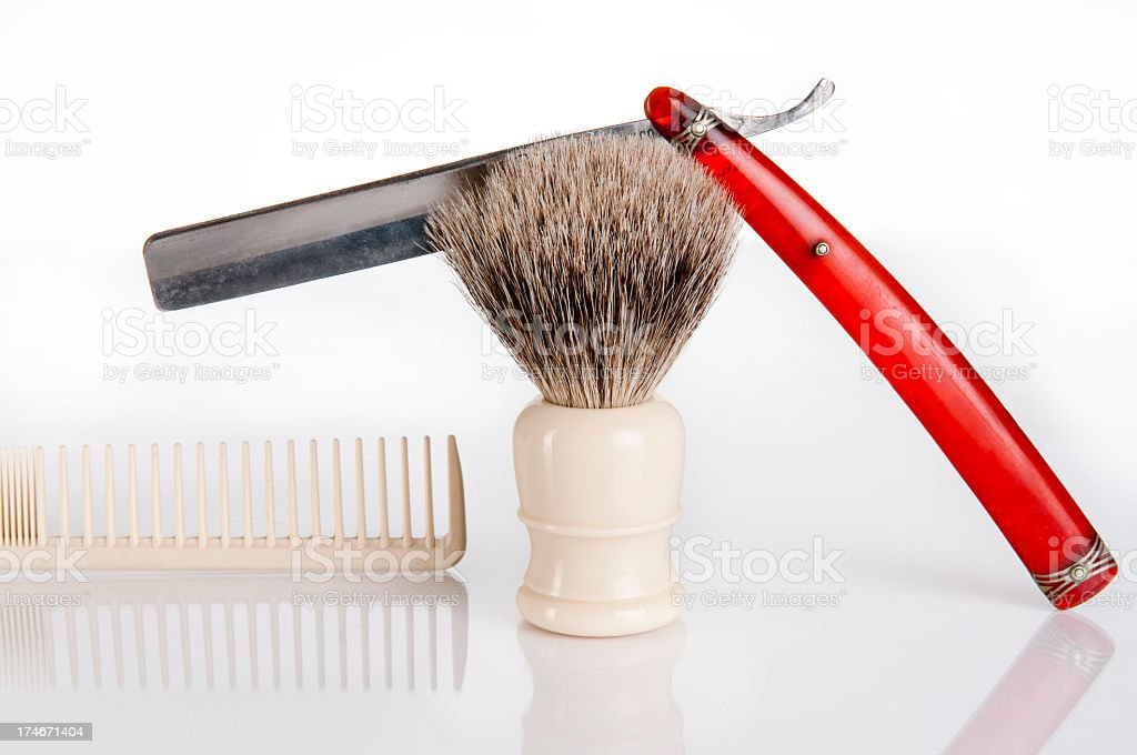 Retro Shaving Supplies royalty-free stock photo