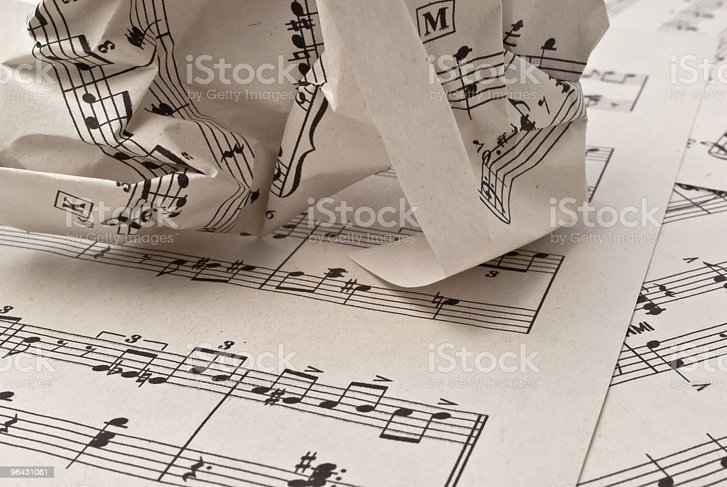 Retro sheet music, abstract art background royalty-free stock photo