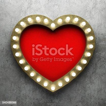 istock Retro Showtime Sign Design 540488566