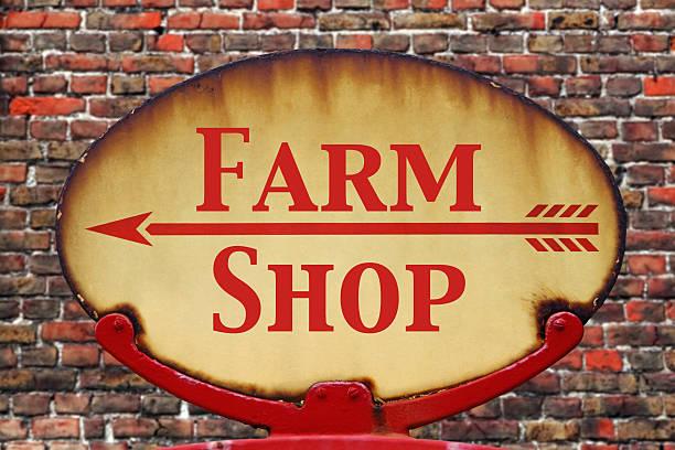 retro-farm-shop - hofladen stock-fotos und bilder