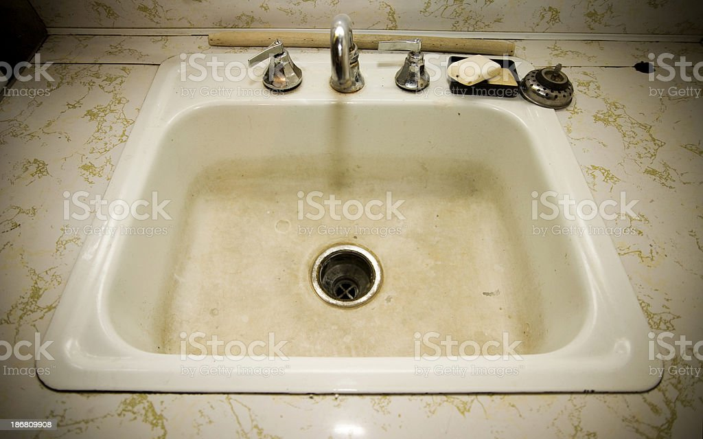 Retro Sink stock photo
