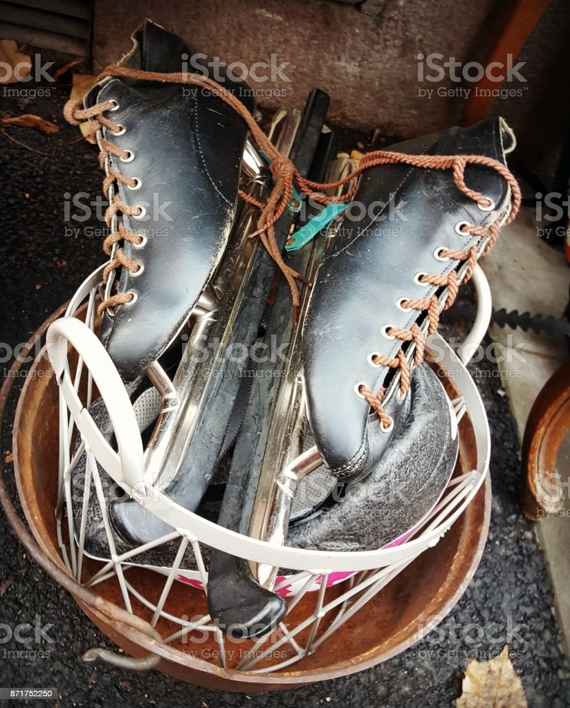 Retro skates stock photo