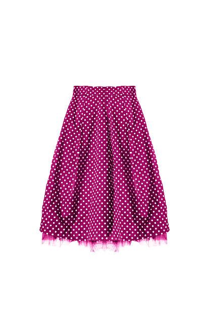 retro skirt isolated - damen rock pink stock-fotos und bilder