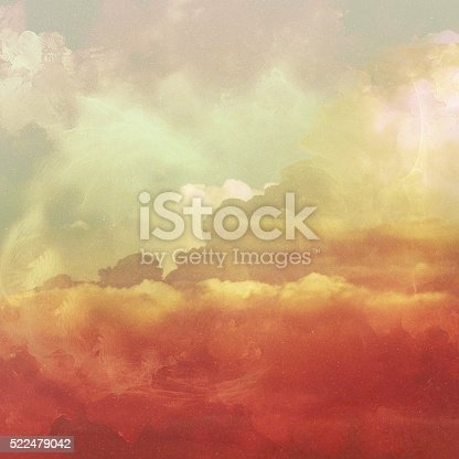 istock Retro sky and clouds background. 522479042