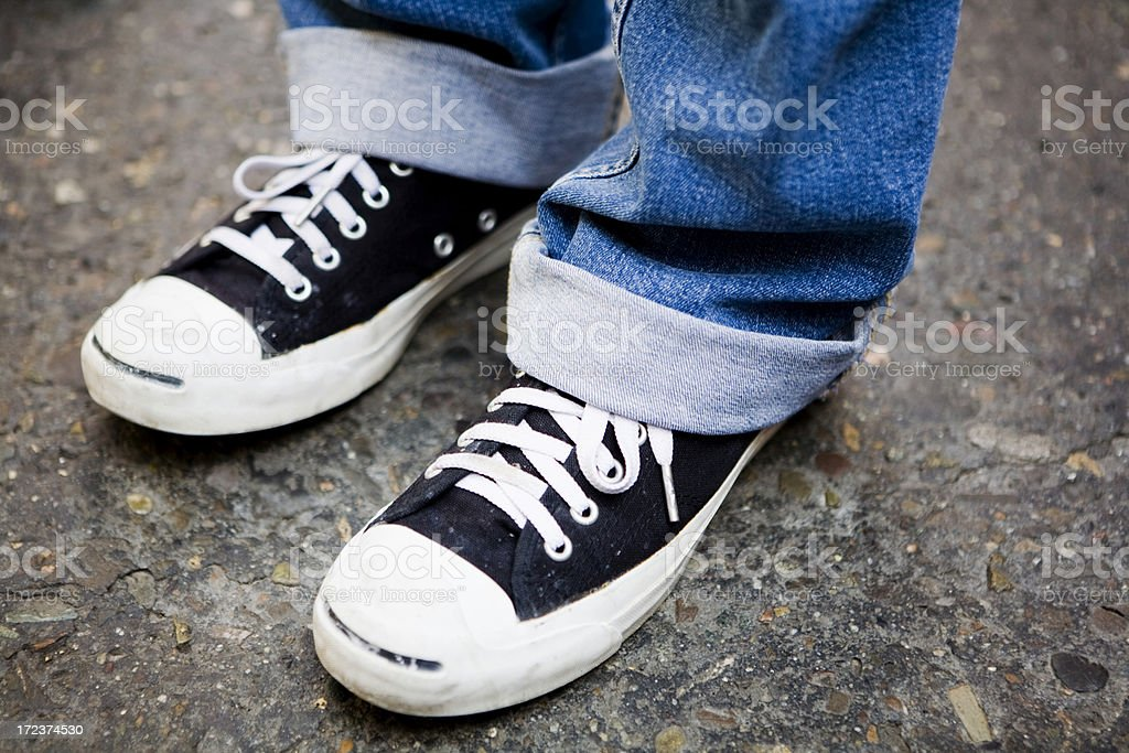 Retro Sneakers royalty-free stock photo
