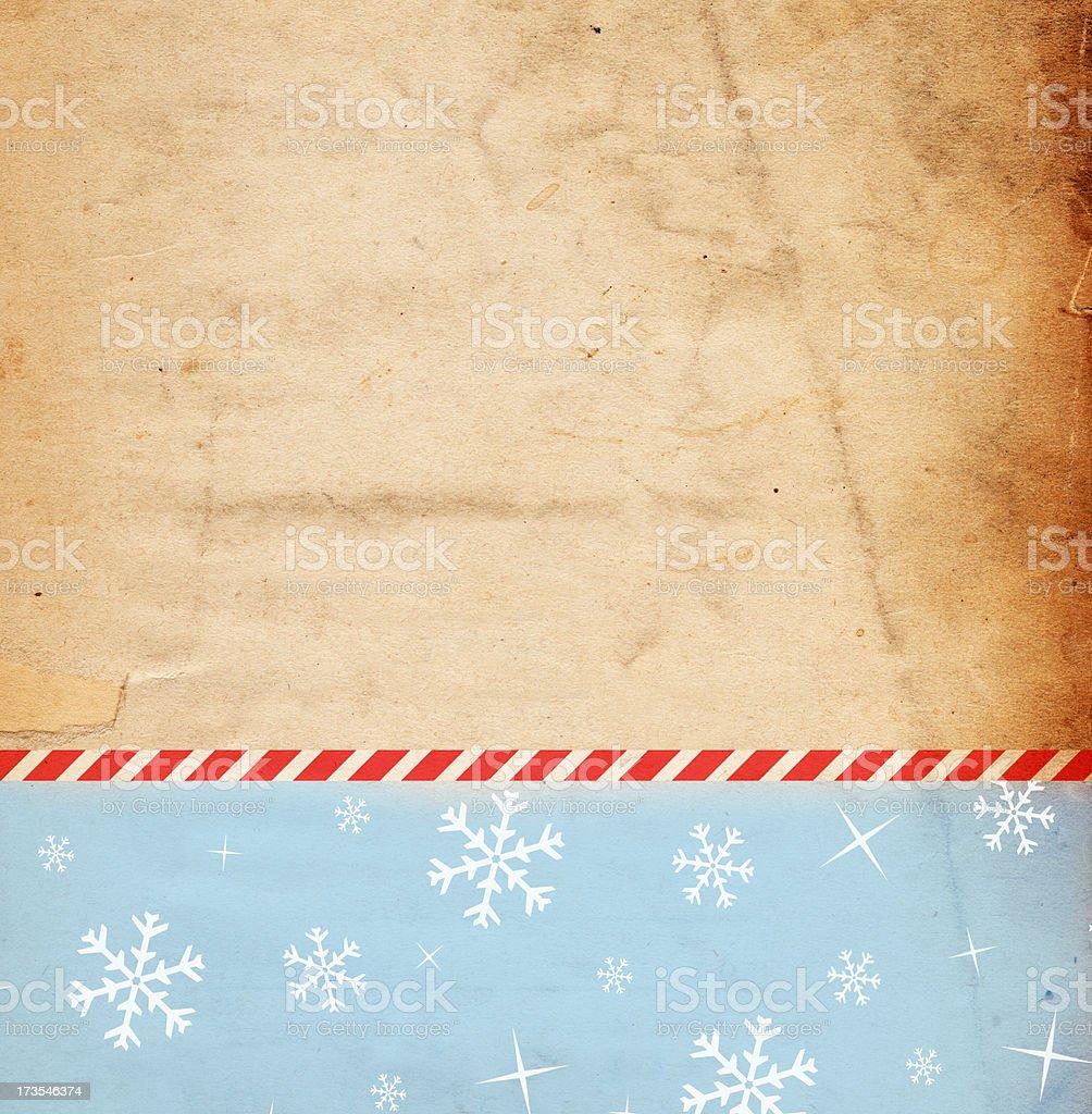 Retro Snowflake Paper XXXL royalty-free stock photo