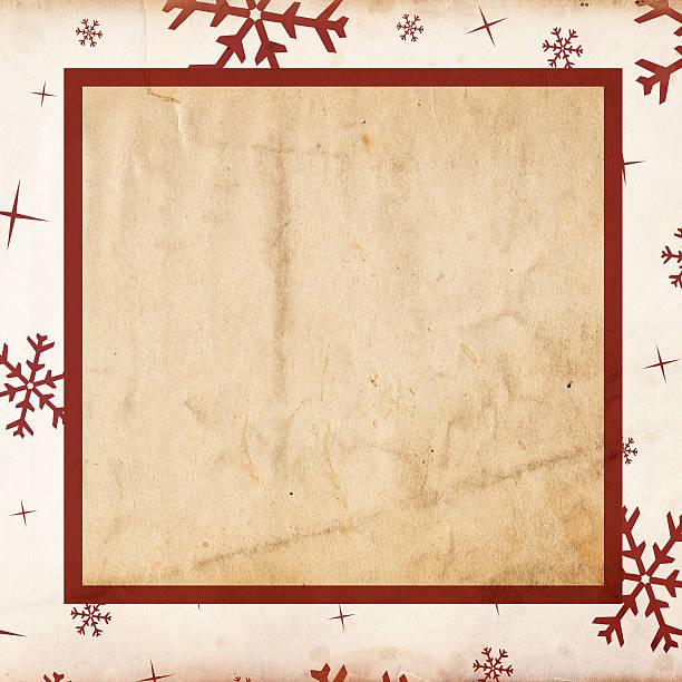 Retro Snowflake Paper XXXL stock photo