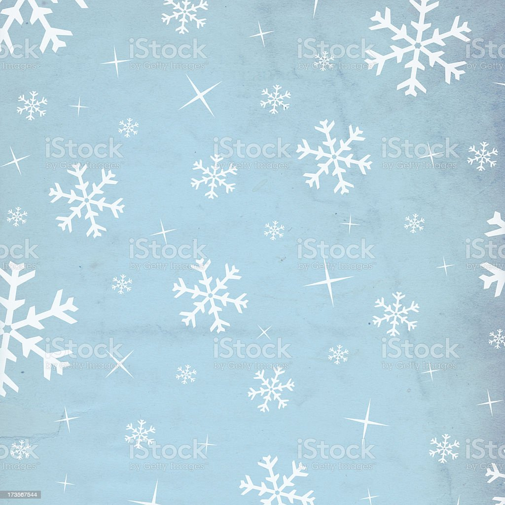 Retro Snowflake Paper XXXL royalty-free stock photo