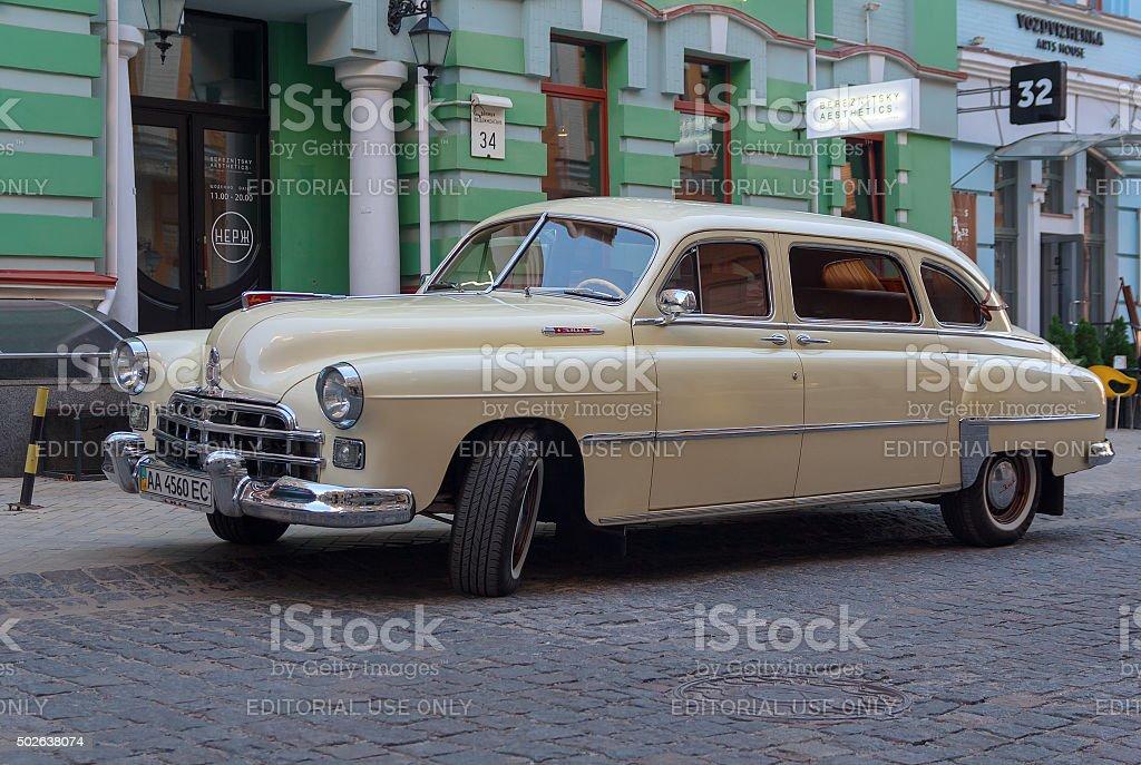 Retro Soviet-made car ZIM stock photo