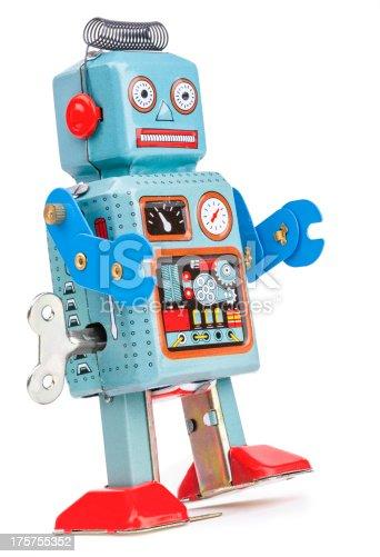 istock Retro Space Robot 175755352