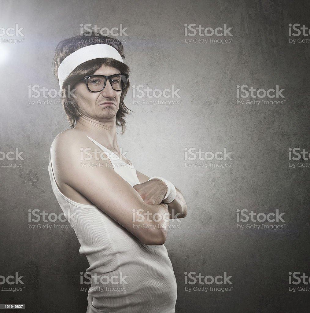 Retro sports nerd stock photo