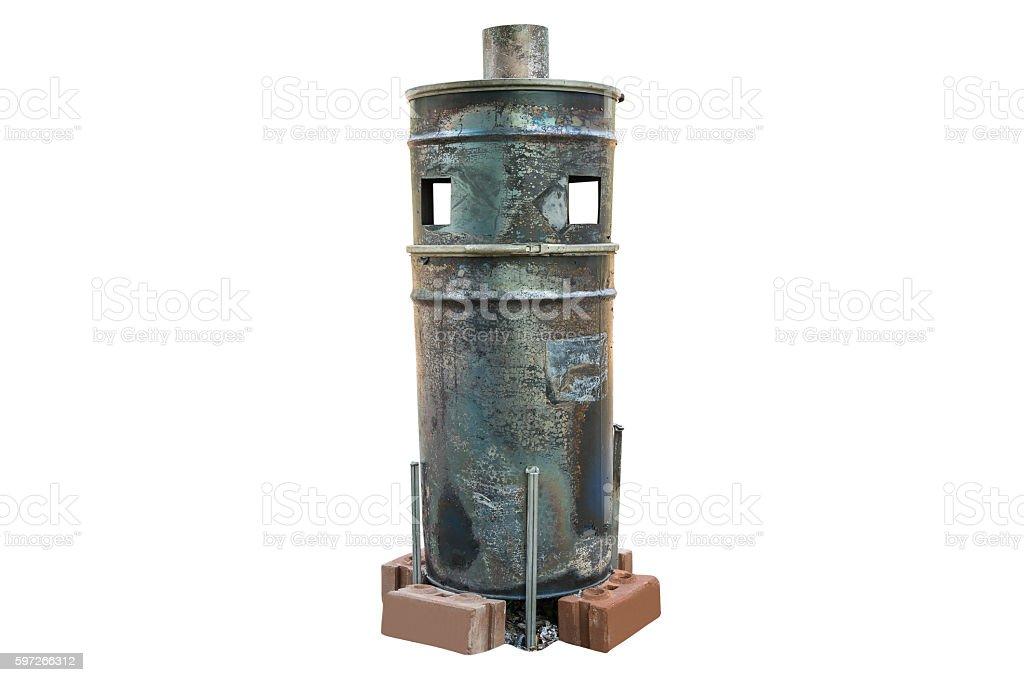 retro steel tank boiler photo libre de droits