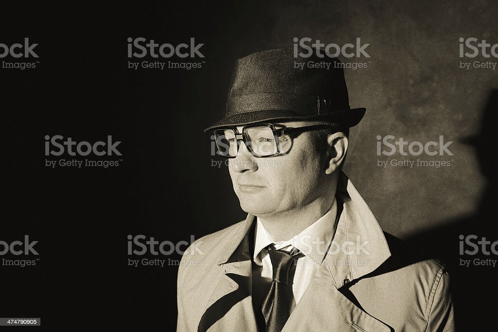 retro style business man royalty-free stock photo