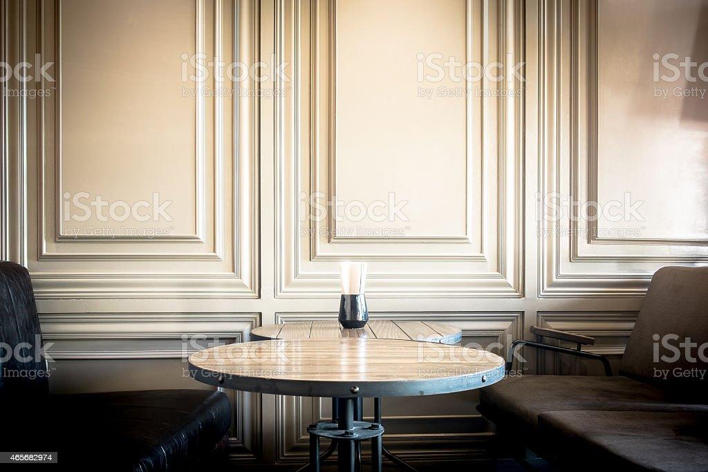 retro style cafe stock photo