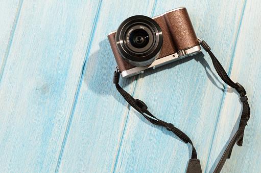 Retro Style Camera Stock Photo - Download Image Now