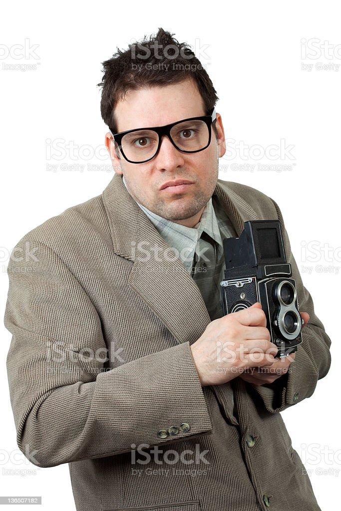 Retro Style Photographer stock photo