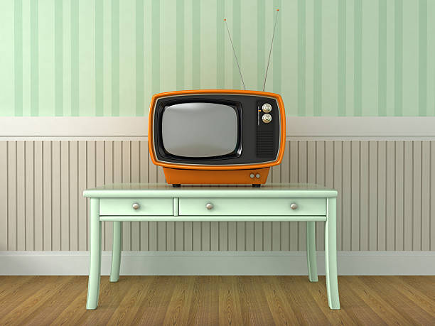 Retro Style Retro Style portable television stock pictures, royalty-free photos & images