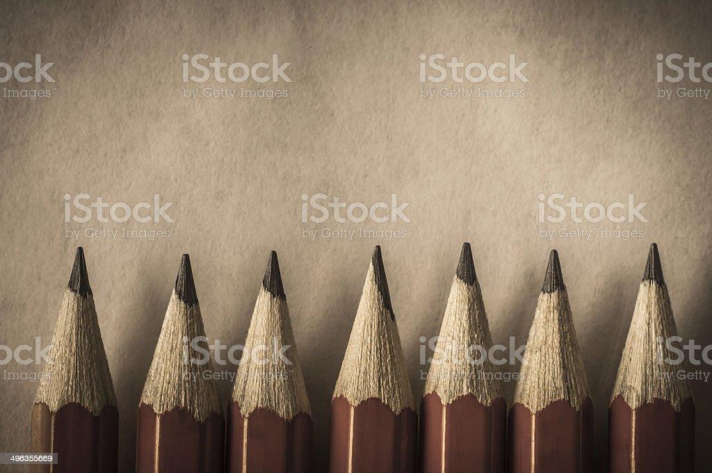 Retro Style Red Pencil Border stock photo