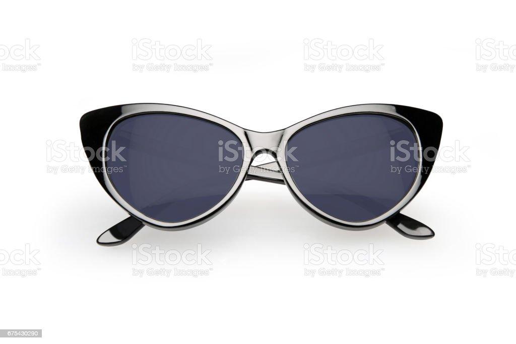 Gafas de sol de estilo retro, aislados sobre fondo blanco foto de stock libre de derechos