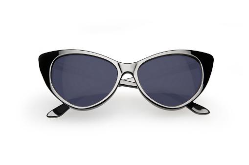 Retro style sunglasses, isolated on white background