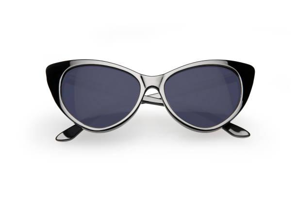 Retro style sunglasses, isolated on white background stock photo