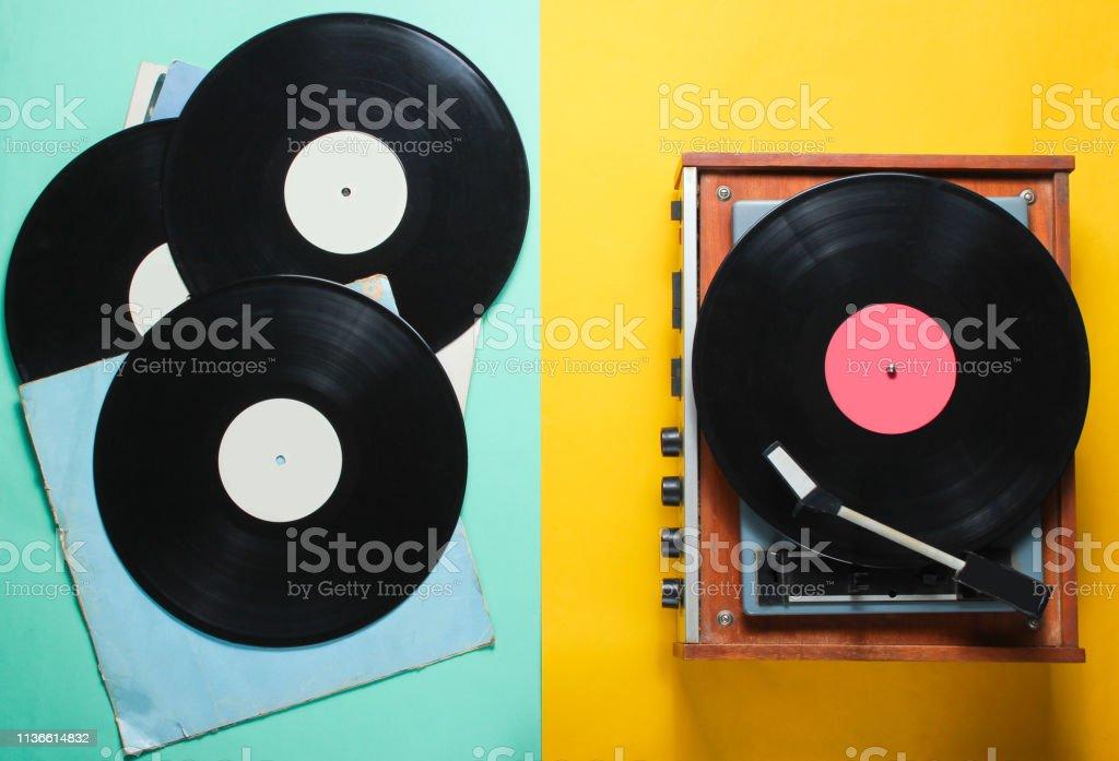 Vinyl oder papier hintergrund