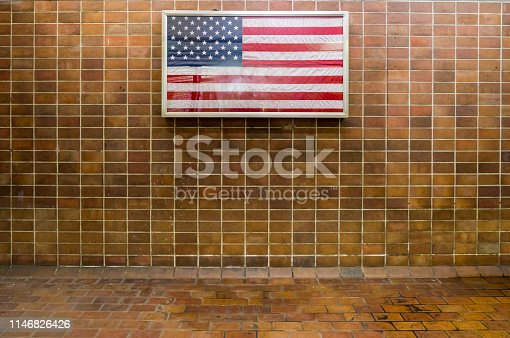 istock Retro style wall and background 1146826426