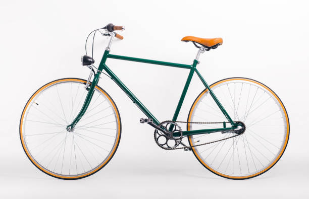 retro styled bicycle - cycling stock photos and pictures