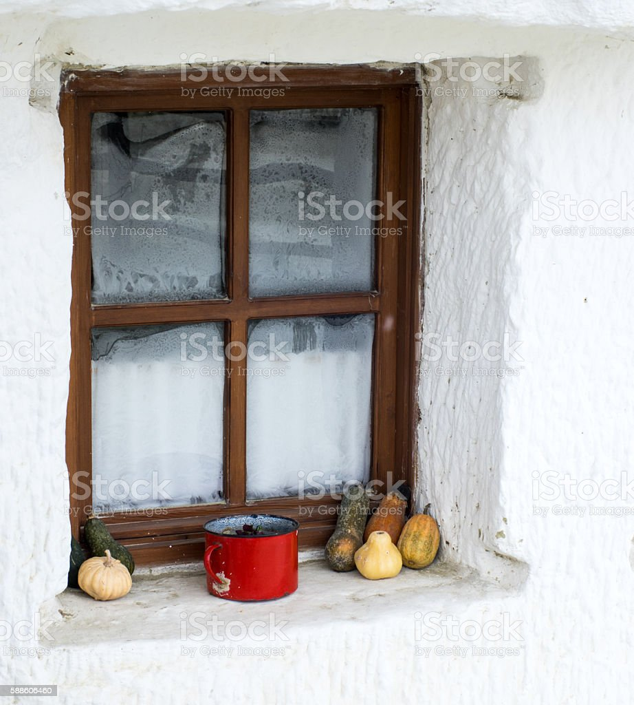 Retro styled decor with vegetables stock photo