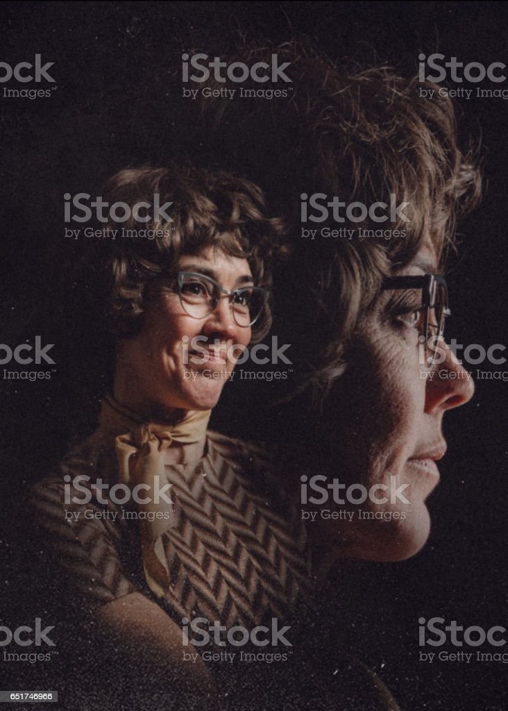 Retro Styled Glamour Shot stock photo
