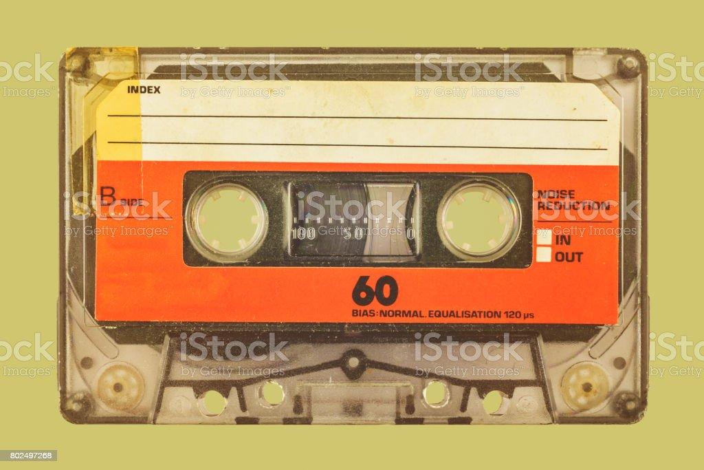 Retro-Stil Bild einer kompakten Kassette – Foto