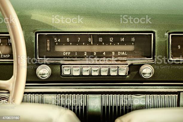 Retro styled image of an old car radio picture id470623160?b=1&k=6&m=470623160&s=612x612&h=vb cy0v9vgesa9wan45lwqoda7xb pcmenyh9ybkfbo=