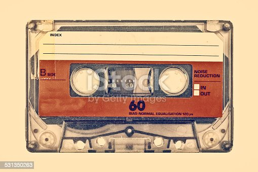 istock Retro styled image of an old compact cassette 531350263