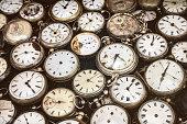 レトロ画像の古いポケット時計