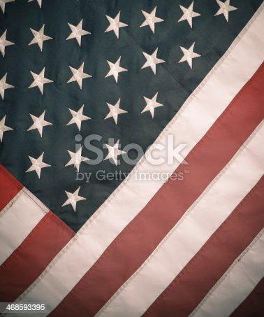 953130996istockphoto Retro Styled Image Of USA Flag 468593395