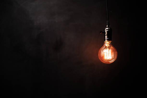 Decoración de estilo Retro iluminación - foto de stock