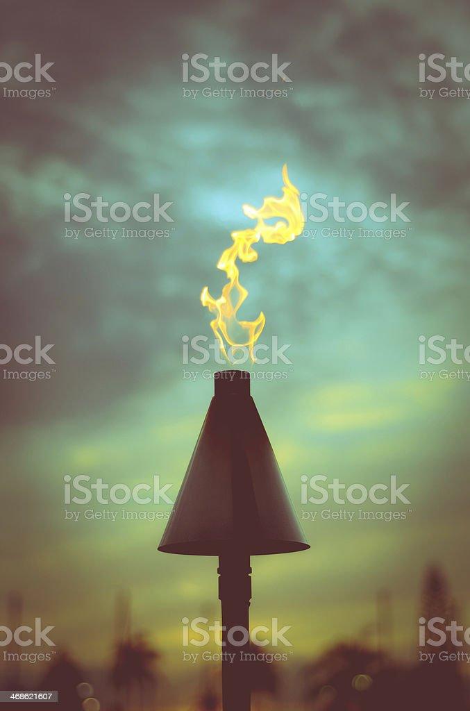 Retro Styled Tiki Torch stock photo