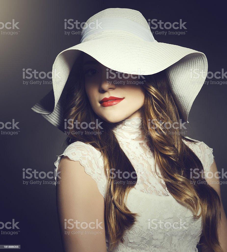 retro styled woman royalty-free stock photo
