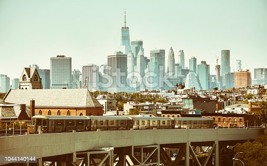 Retro stylized picture of New York City, USA.