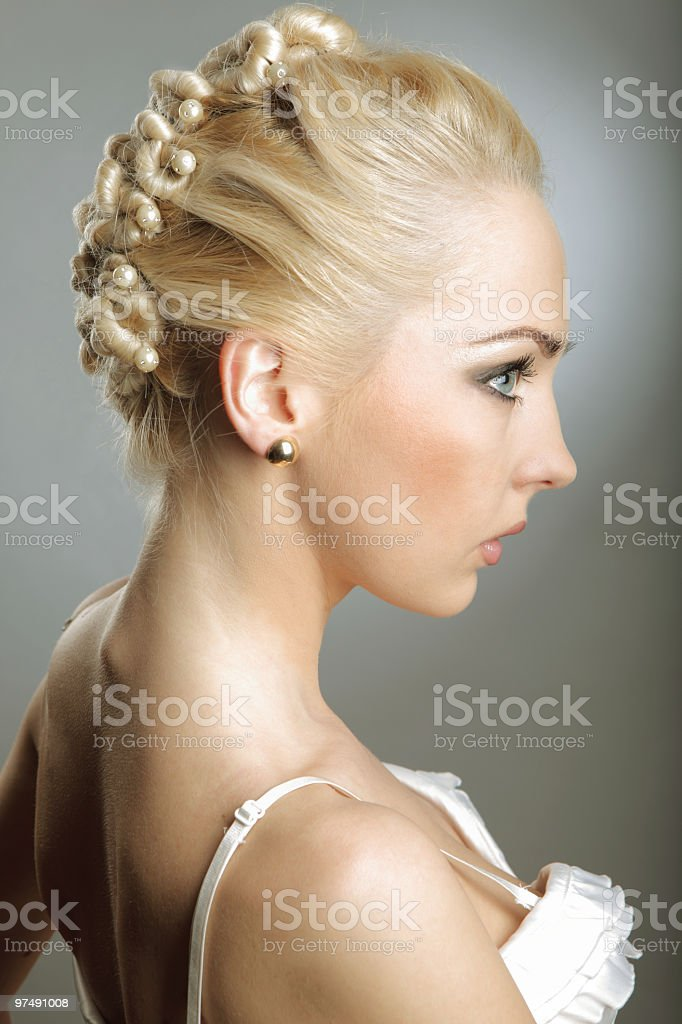 retro stylized portrait royalty-free stock photo